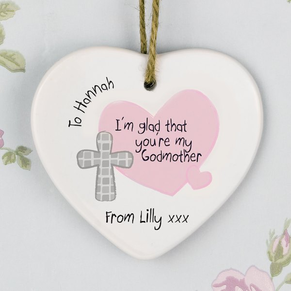 Godmother Ceramic Heart Decoration