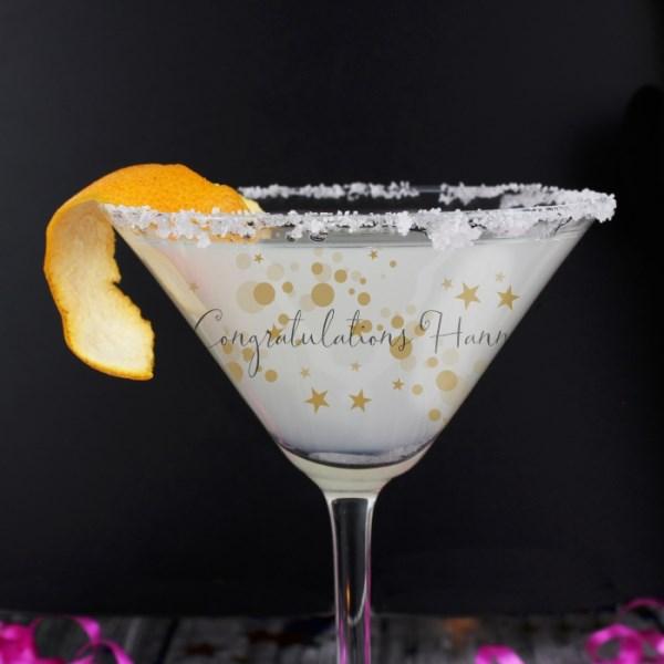 Gold Bubbles Cocktail Glass