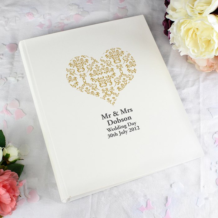 Gold Damask Heart Traditional Album