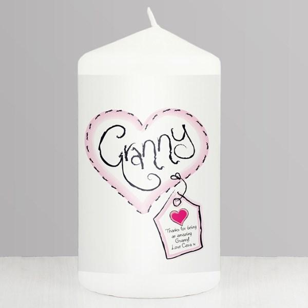 Granny Heart Stitch Candle