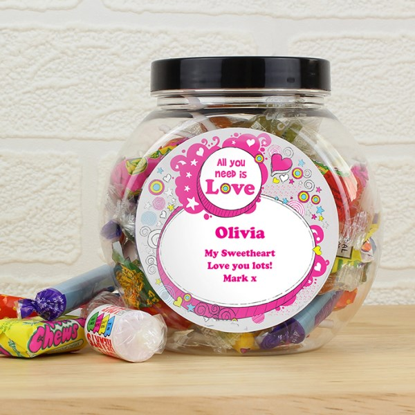 Groovy Doodle Sweet Jar