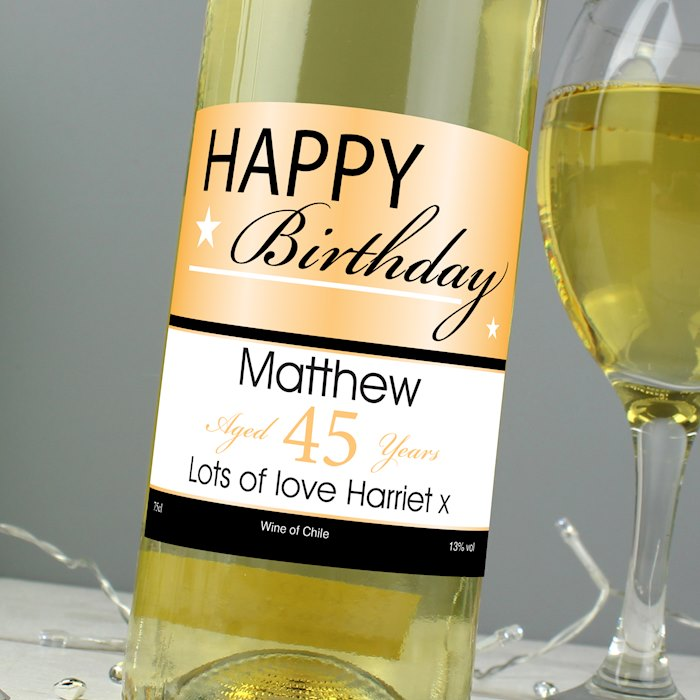 Happy Birthday White Wine
