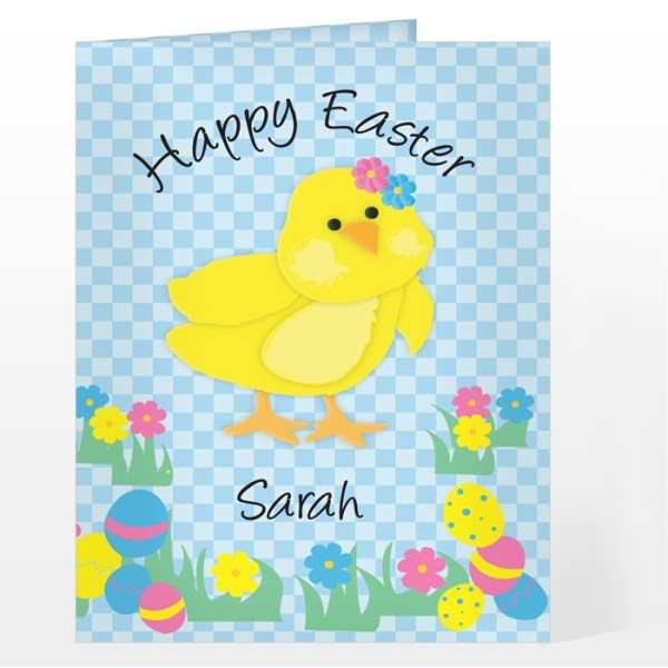 Happy Easter Chick Card