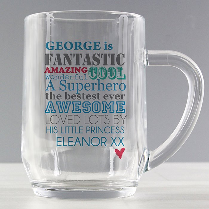 He is... Glass Tankard