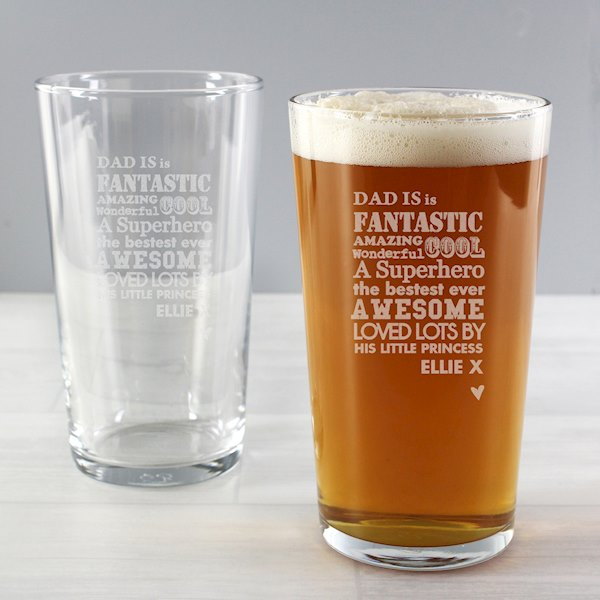 He is...Pint Glass