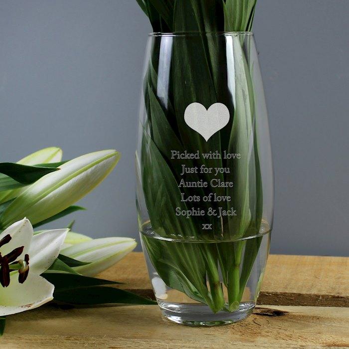 Heart Bullet Vase