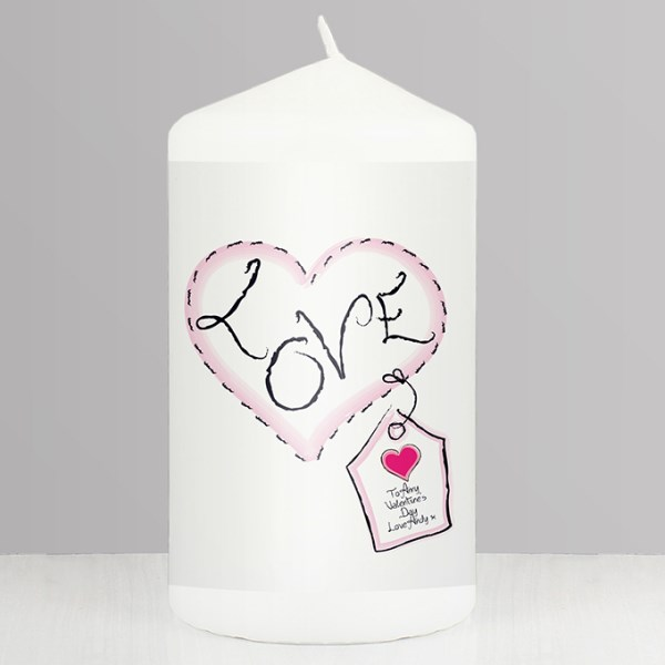 Heart Stitch Love Candle