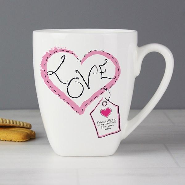 Heart Stitch Love Latte Mug