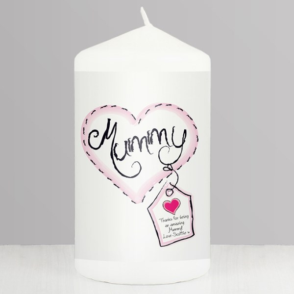 Heart Stitch Mummy Candle