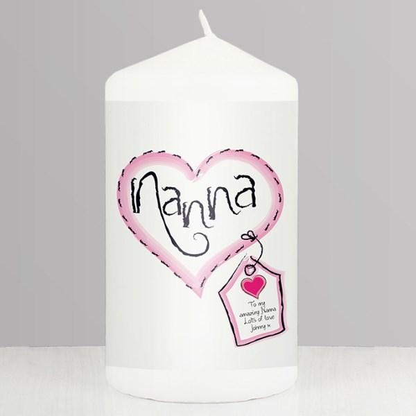 Heart Stitch Nanna Candle