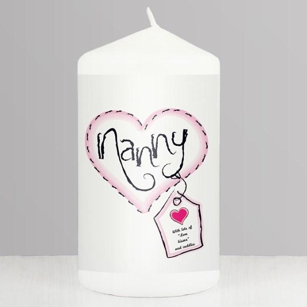 Heart Stitch Nanny Candle