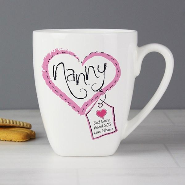 Heart Stitch Nanny Latte Mug