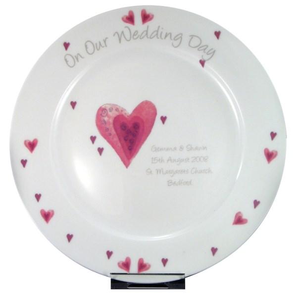 Heart Wedding Plate