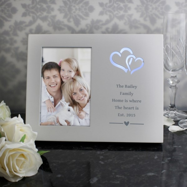 Hearts Any Message 4x6 Light Up Frame