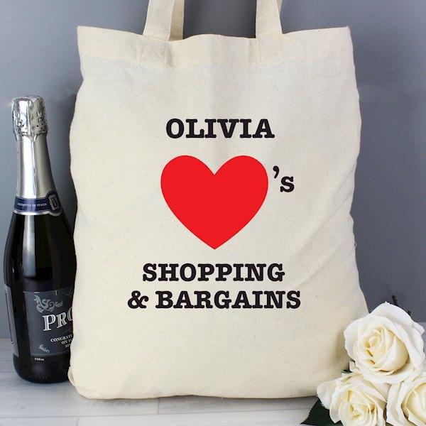 Hearts Cotton Bag