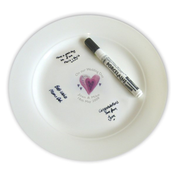 Hearts Message Plate
