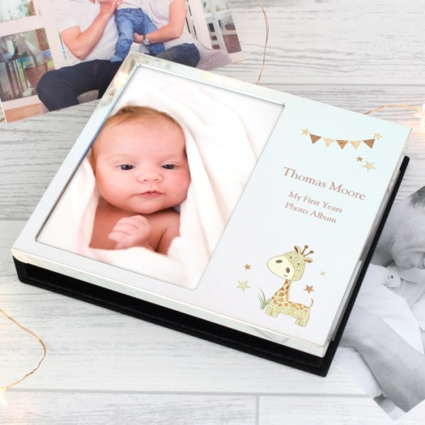 Hessian Giraffe Photo Frame Album 4x6