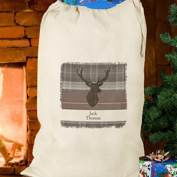 Highland Stag Cotton Sack