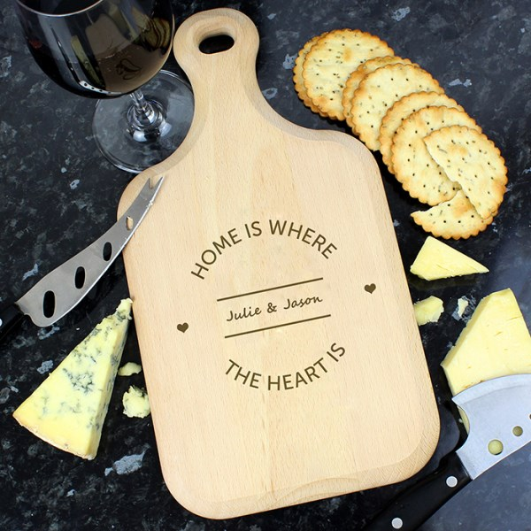 Home is Where... Large Paddle Chopping Board