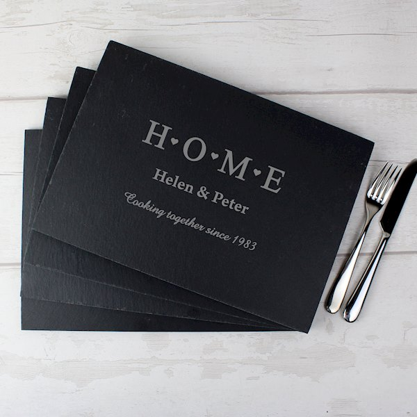 HOME Slate Rectangle Placemat 4 Pack