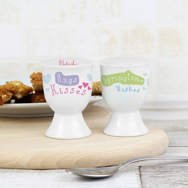 Hugs Kisses Springtime Wishes Egg Cup