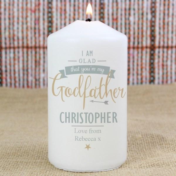 I Am Glad... Godfather Candle