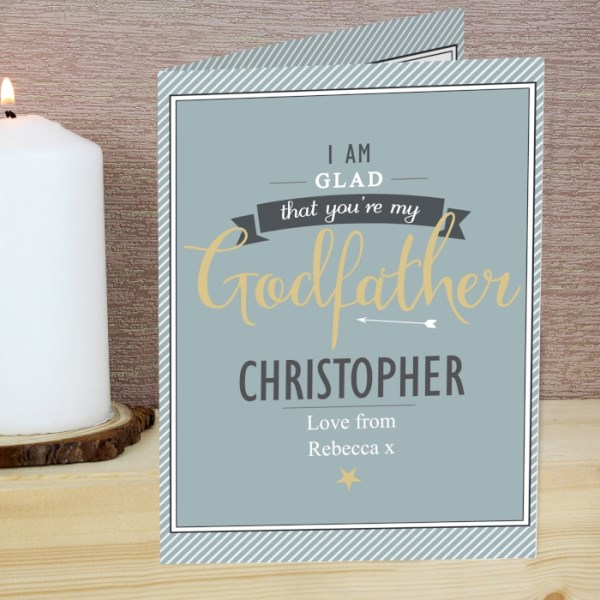 I Am Glad... Godfather Card