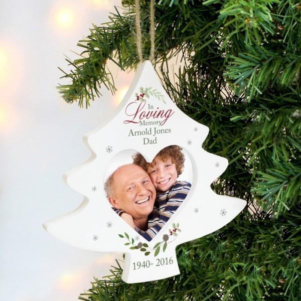 In Loving Memory Tree Photo Frame Decoration