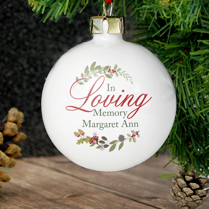 In Loving Memory Wreath Bauble