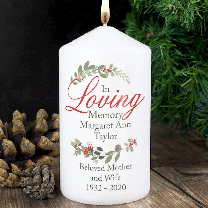In Loving Memory Wreath Candle