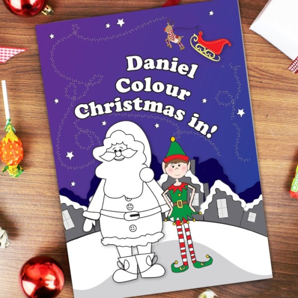 'It's Christmas' Elf Colouring Book