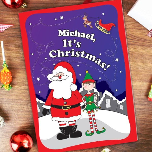 'It's Christmas' Elf Story Book