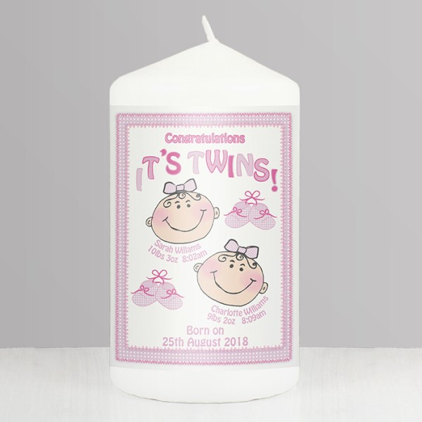 It's Twins Candle pink