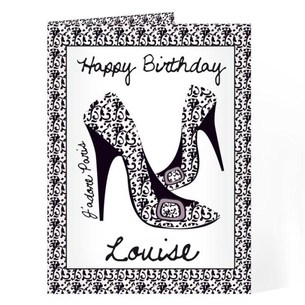 J'adore Shoe Card