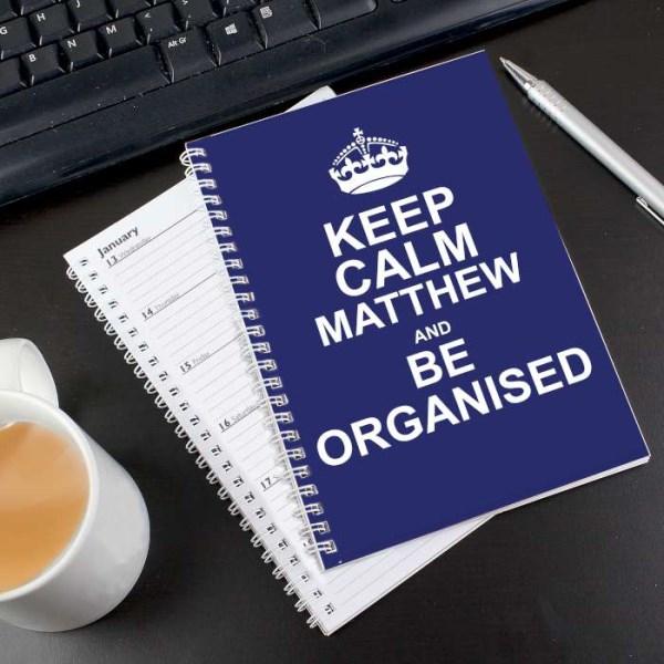 Keep Calm Blue A5 Diary