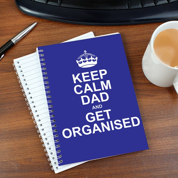 Keep Calm Blue A5 Notebook