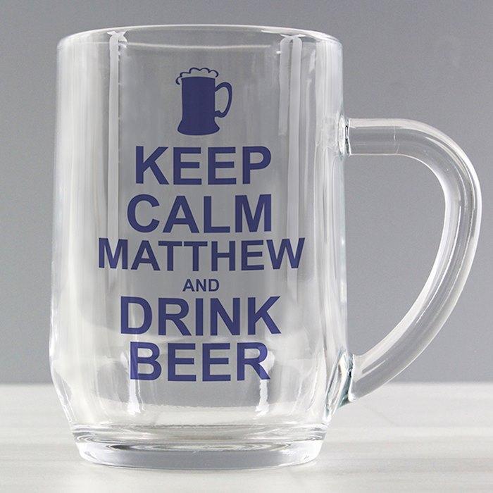 Keep Calm Drink Beer Tankard