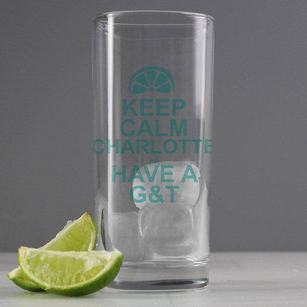 Keep Calm G&T Glass
