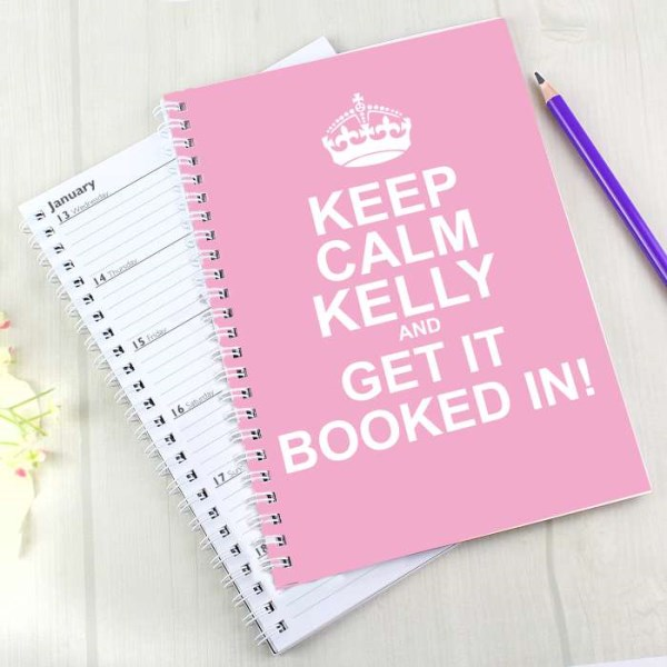 Keep Calm Pink A5 Diary