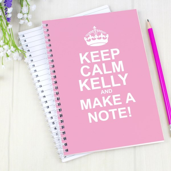 Keep Calm Pink A5 Notebook