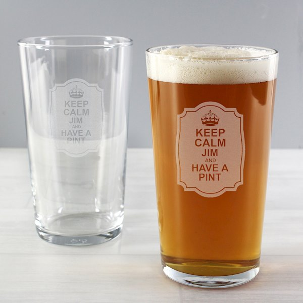 Keep Calm Pint Glass