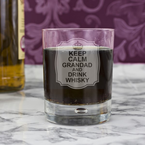 Keep Calm Tumbler Bubble Glass
