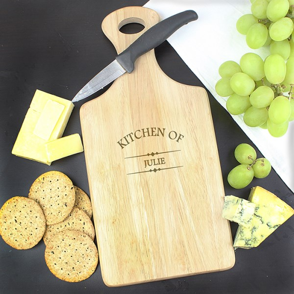 Kitchen Of Large Paddle Chopping Board