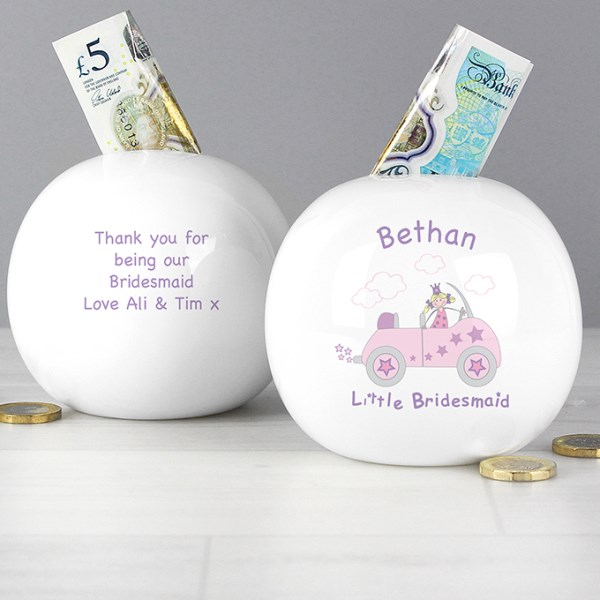 Little Bridesmaid in Car Money Box