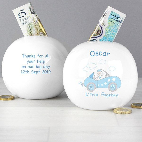 Little Pageboy in Car Money Box