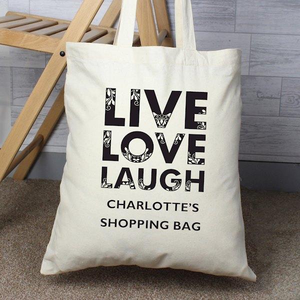 Live Laugh Love Cotton Bag