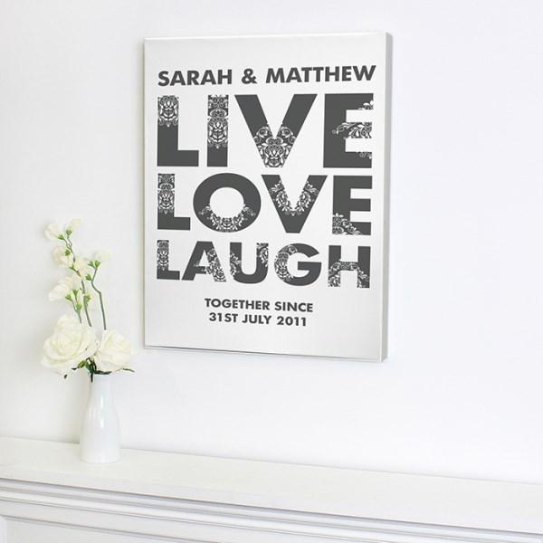 Live Love Laugh Canvas