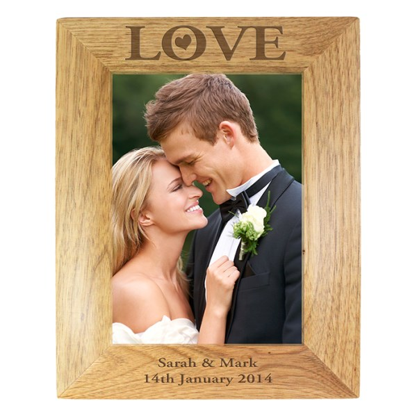 Love 7x5 Wooden Photo Frame