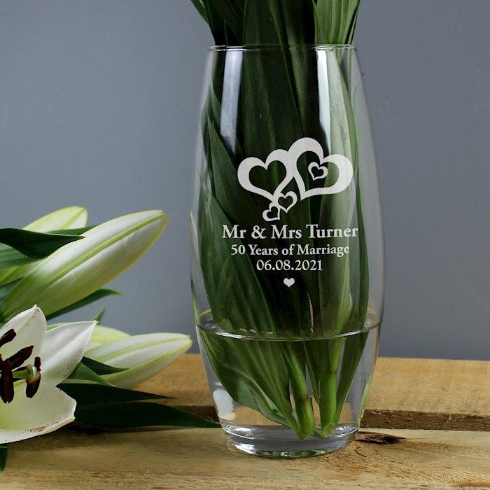 Love Hearts Bullet Vase