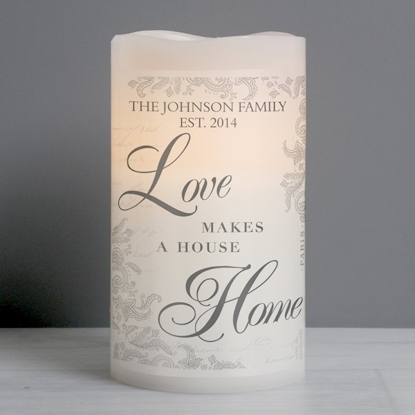 Love Makes a Home LED Candle
